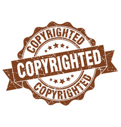 copyrighted stamp sign seal vector image vector image