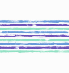 creative watercolor brush stripes seamless pattern vector image
