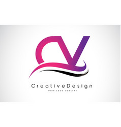 Cv c v letter logo design creative icon modern vector
