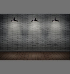 Dark brick wall of prison vector