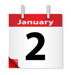 Date january 2nd vector