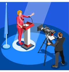Election News Infographic Us Spokesperson vector image