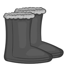 Felt boots icon black monochrome style vector