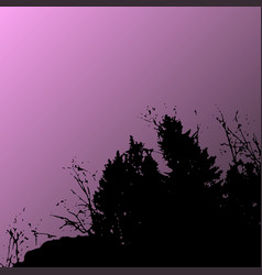 forest landscape silhouette realistic vector image vector image