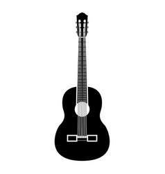 guitar black color icon icon vector image