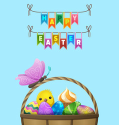 Happy easter flyer or concept vector