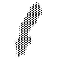 Hexagonal sweden map vector