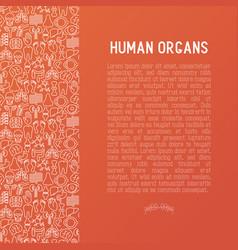 human internal organs concept vector image