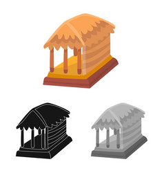 Isolated object hut and house symbol vector