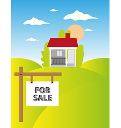 Land sale background vector