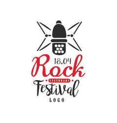 legendary rock festival logo 18 april black and vector image