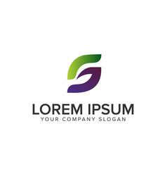 letter s leaf logo design concept template fully vector image