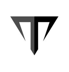 Letter t taurus symbol design vector