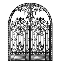 Menal arched gate vector