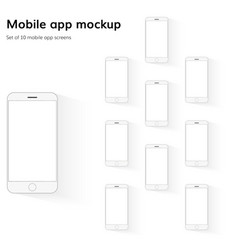 mobile application screens mockup vector image