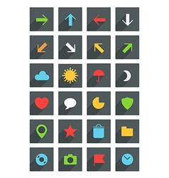 Modern thin web icons collection vector
