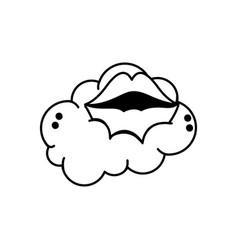 Mouth cartoon design vector