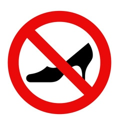 No high heels vector