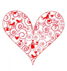 Patterned heart vector