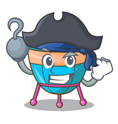 Pirate character cartoon percussion musical vector