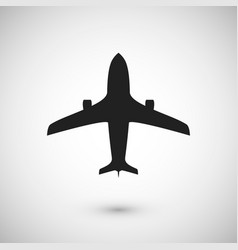 plane icon jet silhouette template isolated vector image