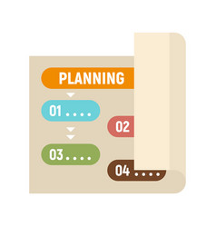 Planning paper icon flat style vector