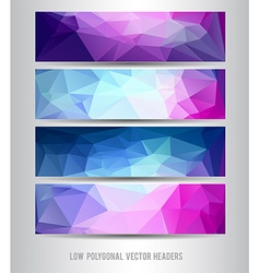 Polygonal header set vector