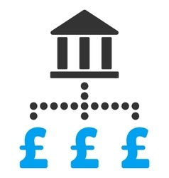 Pound Bank Payments Flat Icon Symbol vector image