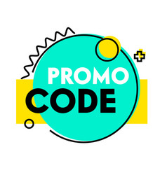 promo code banner simple abstract design vector image