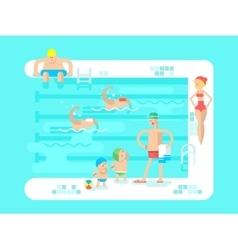 Public swimming pool vector