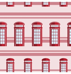 Red telephone box seamless pattern vector image