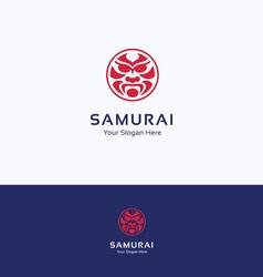 Samurai logo vector image
