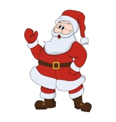 Santa claus on white background character vector image