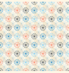 seamless geometric flower pattern vector image
