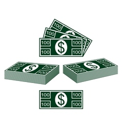 Set of dollars vector image