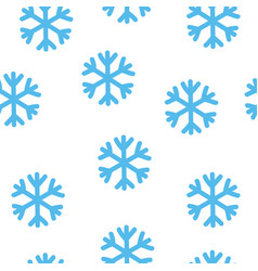 simple blue snowflake seamless pattern winter vector image