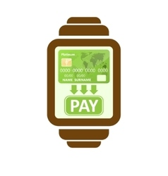 Smart watch payments vector image