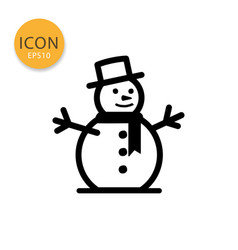Snowman icon isolated flat style vector