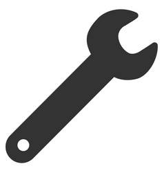 spanner flat icon vector image