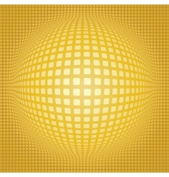 Sphere digital background vector image