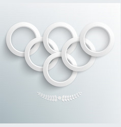 Sport background paper rings vector