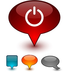 Switch speech comic icons vector