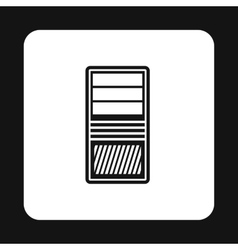 System unit of computer icon simple style vector image