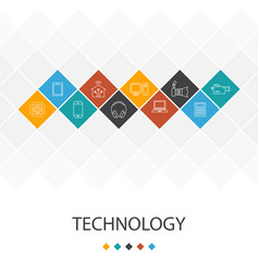 Technology trendy ui template infographics concept vector