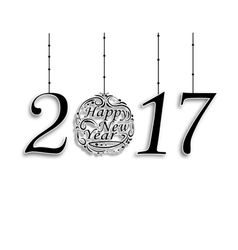 The inscription 2017 Wishing Happy New Year vector