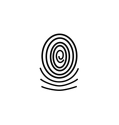 three fingerprint types on white background loop vector image