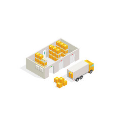 warehouse post office parcel delivery logistics vector image