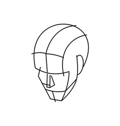Wire Head 380x400 vector image