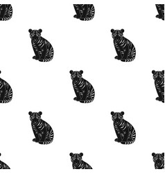 young tigeranimals single icon in black style vector image