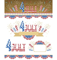 4th July elements vector image